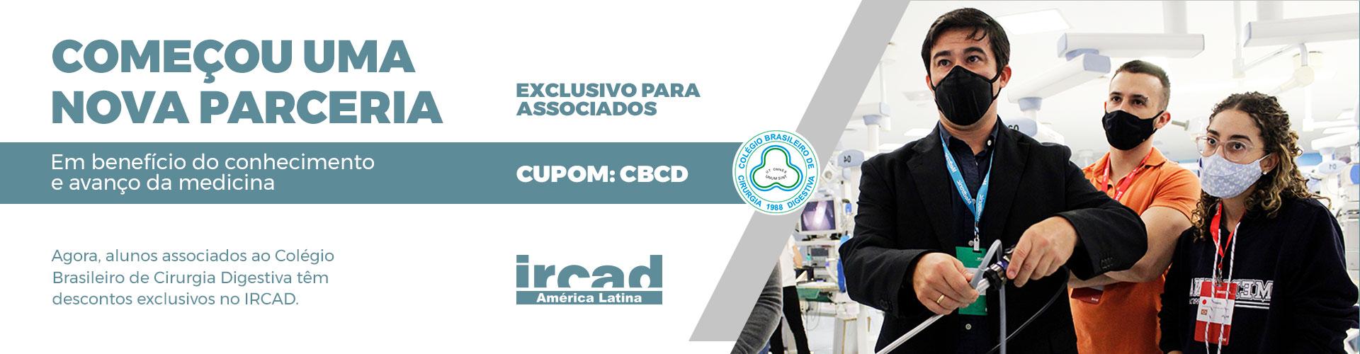 Banner parceria CBCD Ircad Desktop | CBCD