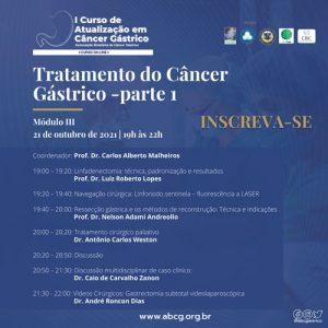 ABCG - Curso   Tratamento do Câncer Gástrico - parte 1